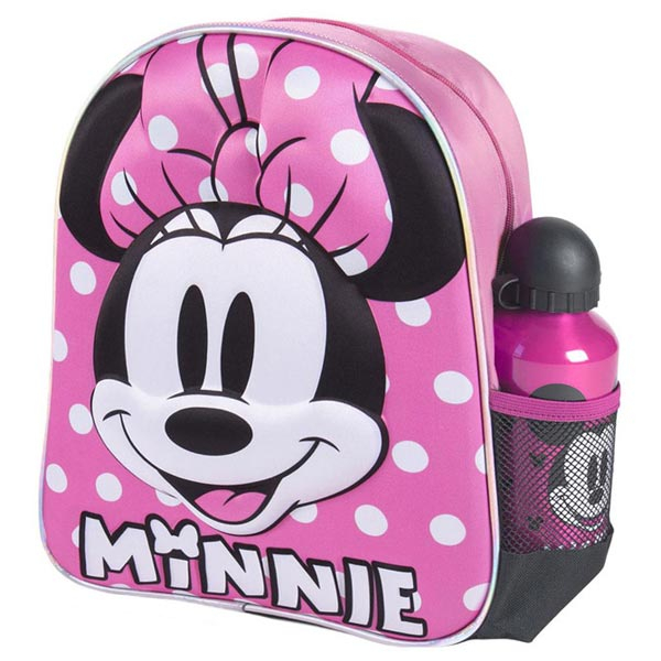 Ranac predškolski 3D+flašica Minnie Cerda 2100003589 roze-crni - ODDO igračke