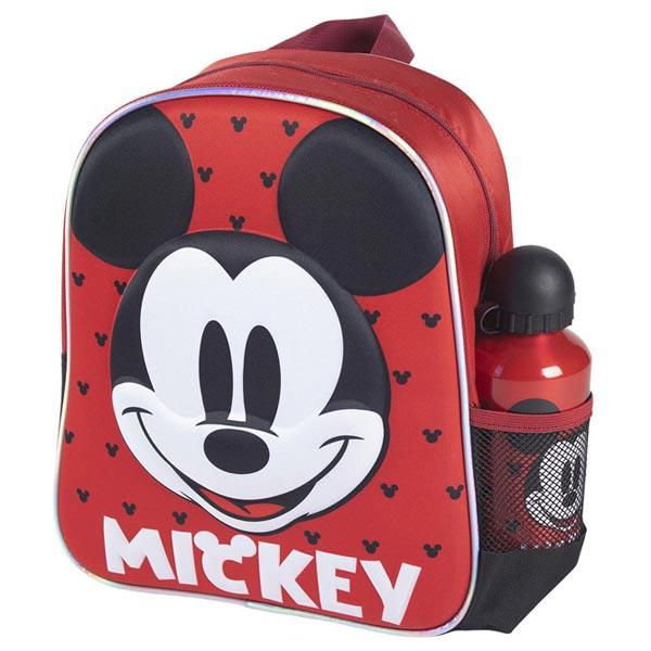 Ranac predškolski 3D+flašica Mickey Cerda 2100003588 crno-crveni - ODDO igračke