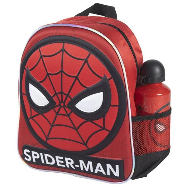 Ranac predškolski 3D+flašica Spiderman Cerda 2100003595 crveno-crni - ODDO igračke
