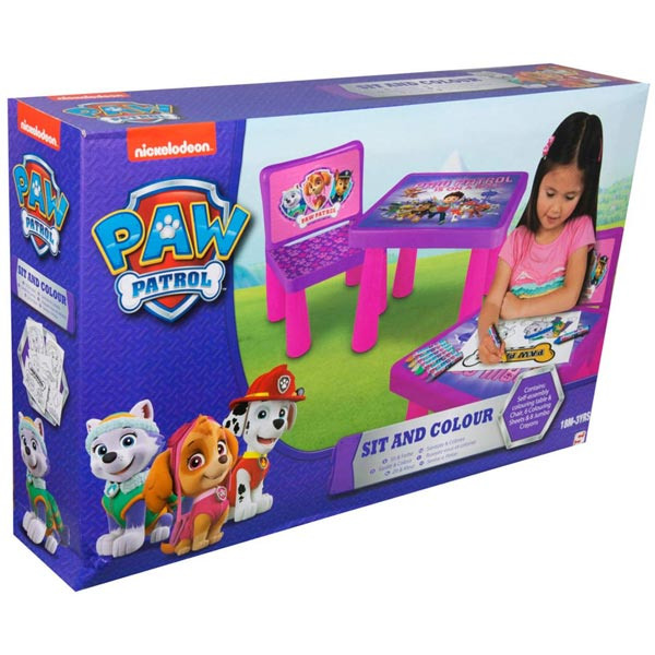 Paw Patrol Girls Set sto sa stolicom za crtanje PWP9-Y17-4144-1-FO - ODDO igračke