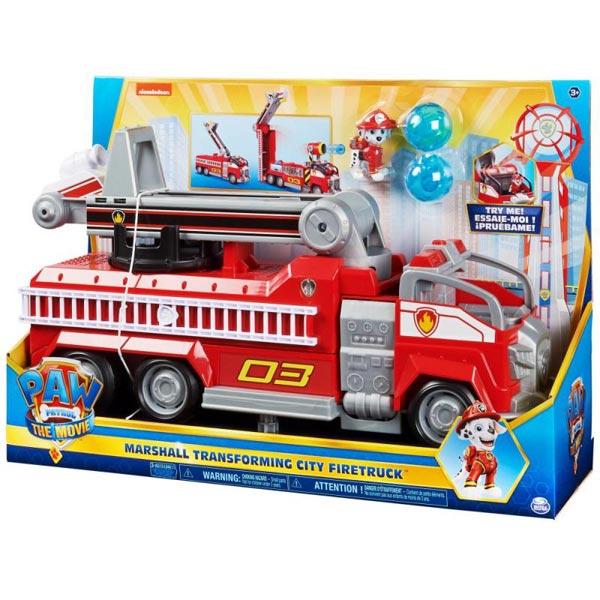 Paw Patrol Marshalls Transforming Movie Citi vatrogasno vozilo sa merdevinama, svetlima, zvucima i akcionim likom SN6060444 - ODDO igračke