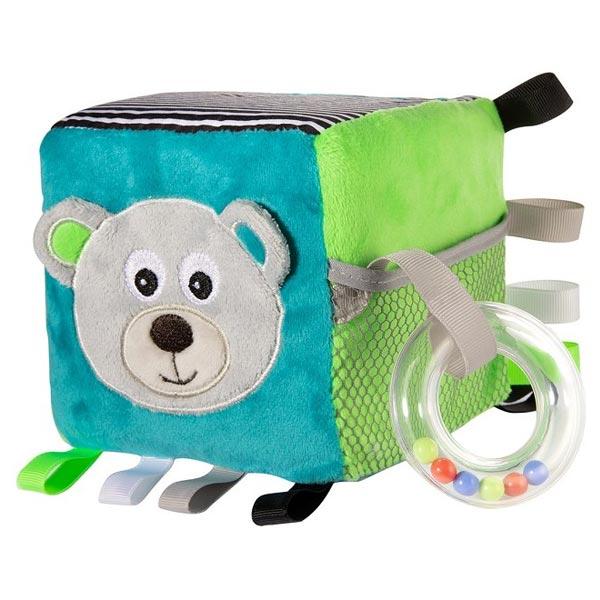 Canpol Babies plišana igračka kocka Meda 12x12x12cm - Grey 68/073grey - ODDO igračke