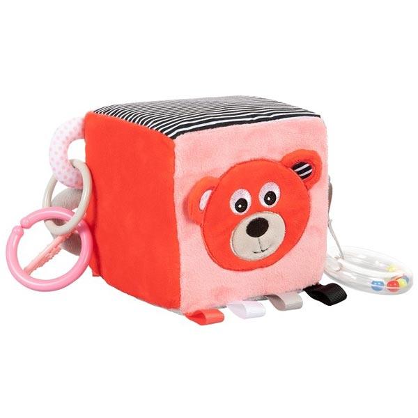 Canpol Babies plišana igračka kocka Meda 12x12x12cm - Coral 68/073cor - ODDO igračke