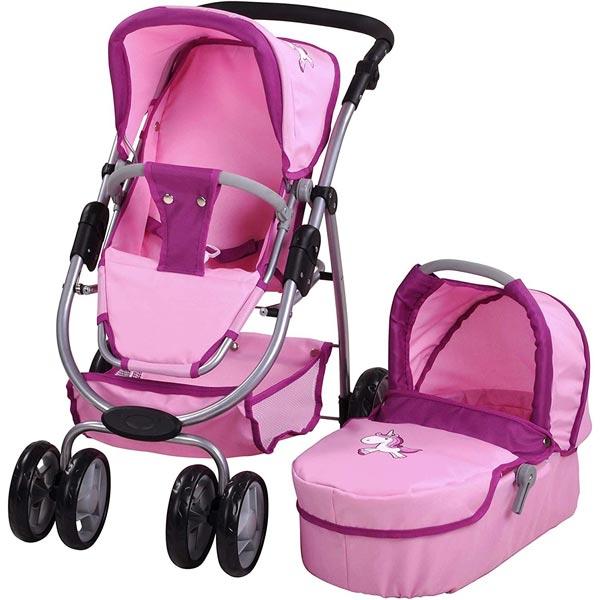 Kolica za lutke Coco roze jednorog Knorr 90774 - ODDO igračke