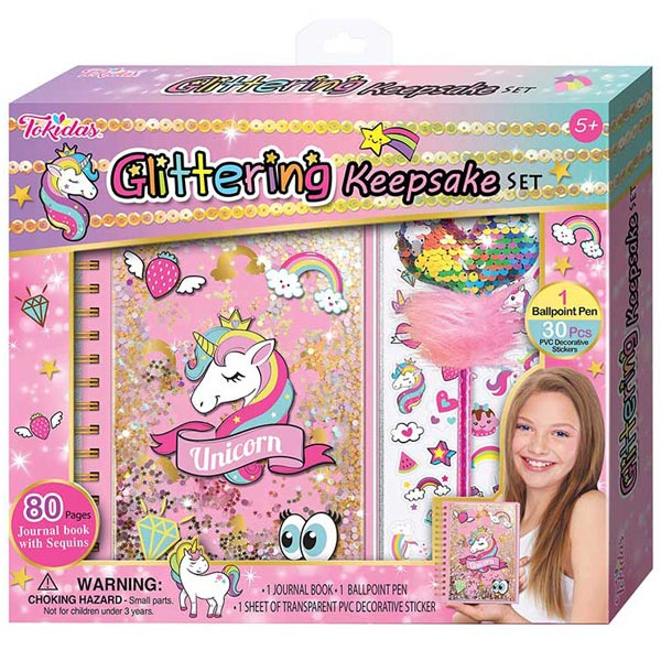 Poklon set Glitter spomenar Unicorn Jednorog T106 - ODDO igračke