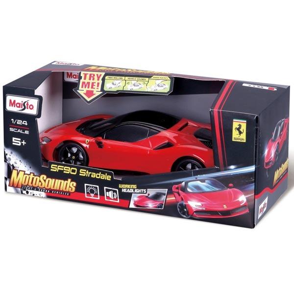 Automobil Maisto 1:24 MotoSounds SF90Stradale 81732 - ODDO igračke