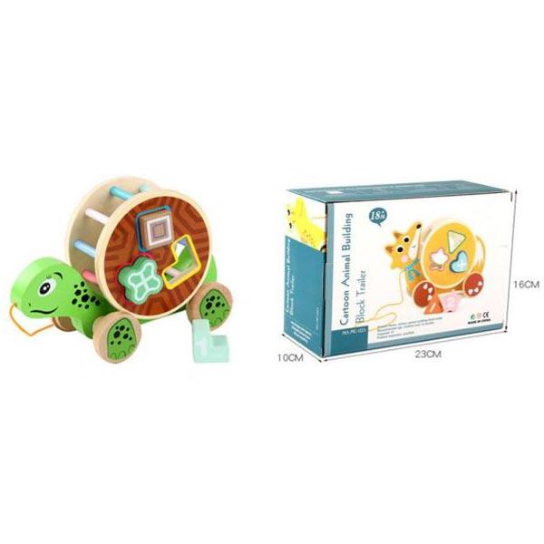Drvena kornjača za pogađanje oblika 11/61032 - ODDO igračke