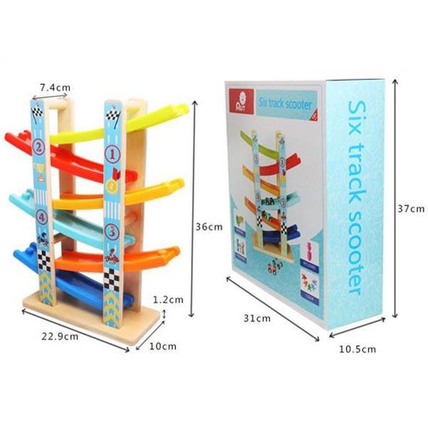 Drvena staza sa autićima 11/60843 - ODDO igračke