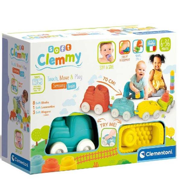 Clemmy mekane kockice vozić Sensory Train CL17424 - ODDO igračke