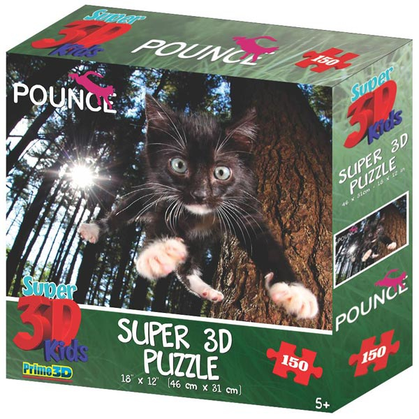 Prime 3D Super 3D puzzle Underwater Cats 150 delova 31X46cm 10869 - ODDO igračke