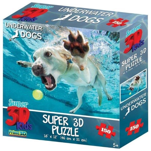 Prime 3D Super 3D puzzle Underwater Dogs Pas 150 delova 31X46cm 10866 - ODDO igračke
