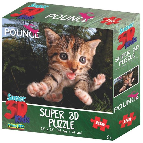 Prime 3D Super 3D puzzle Underwater Cats 150 delova 31X46cm 10868 - ODDO igračke
