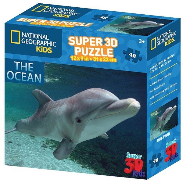 National Geographic - Amazing Animals Delfin Prime3D Puzzle 48 delova 31x23cm 13532 - ODDO igračke