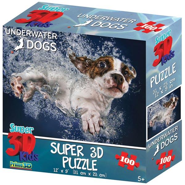 Prime 3D Super 3D puzzle Underwater Dogs 48 delova 31X23cm 13661 - ODDO igračke
