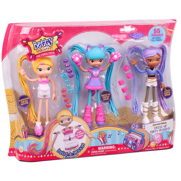BETTY SPAGHETTY S1 DELUXE MIX N MATCH PACK 59002   - ODDO igračke