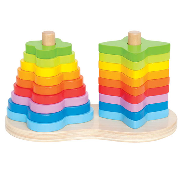 Drvena igračka Dupla dugina slagalica Hape Toys E0406 - ODDO igračke