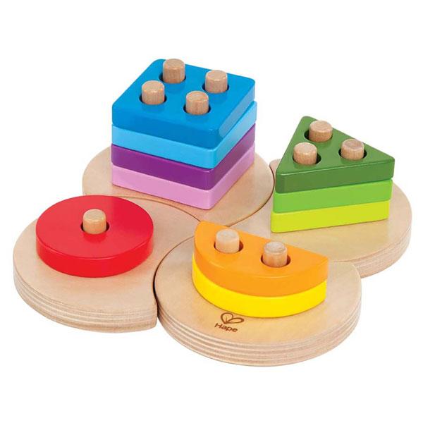 Drvena Geometrijska slagalica Hape Toys E0415 - ODDO igračke