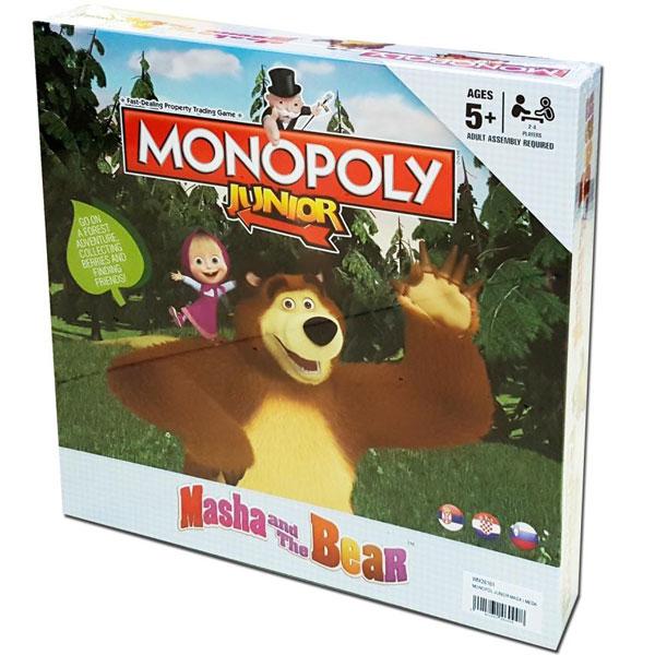 Monopol društvena igra junior Maša i Meda WM26161 - ODDO igračke