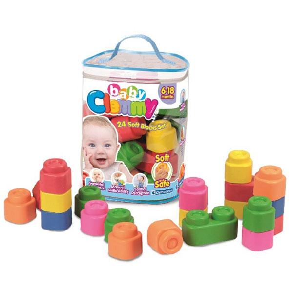 Mekane gumene kocke Clemmy Torba sa kockama 24 komada CL14889 - ODDO igračke