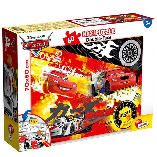 Slagalica Lisciani 60pcs Maxi Cars Dwustronne 2u1 slozi I oboji 48236 - ODDO igračke