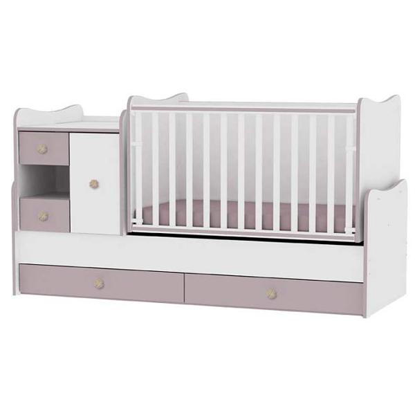 Drveni Krevetac Mini Max White-Cappuccino 10150500025 - ODDO igračke