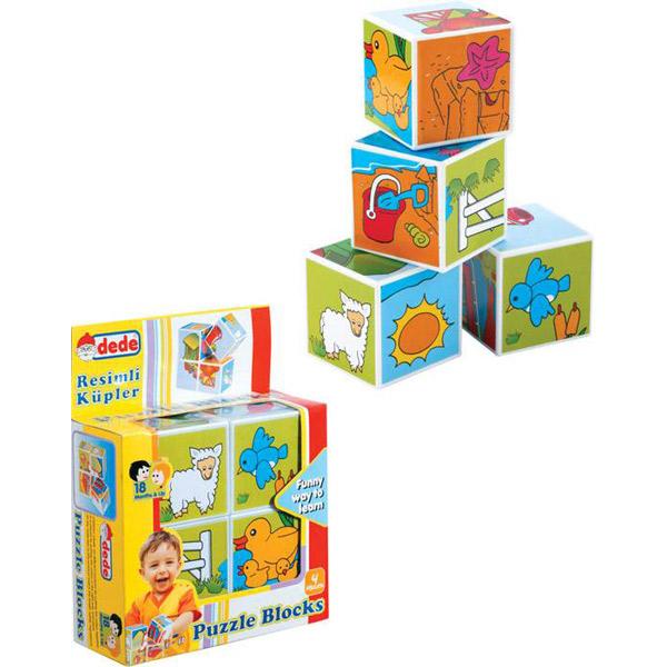DEDE Puzzle kocke 4 kom. 020330 - ODDO igračke