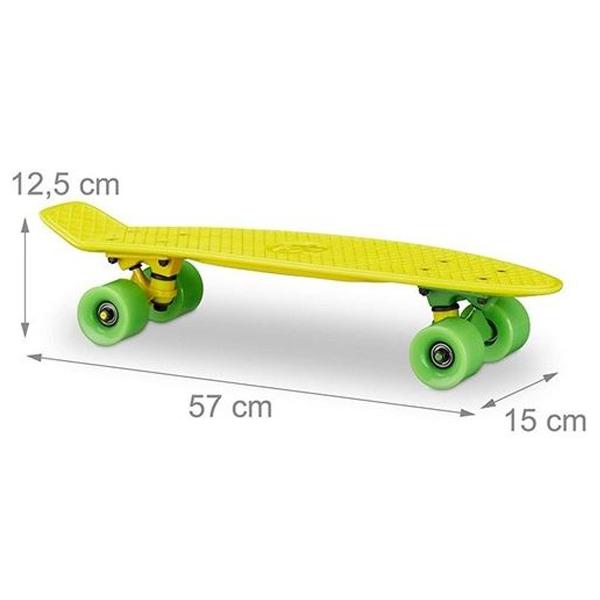 Skejt žuti 57cm 10022271Y - ODDO igračke