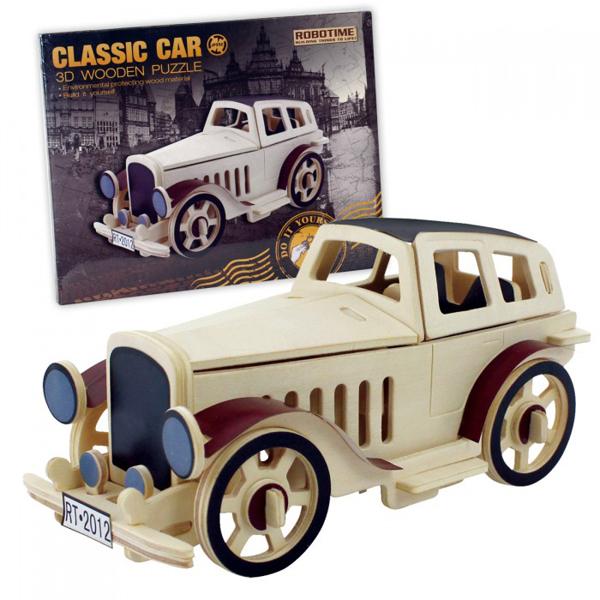 3D drvene puzzle klasični auto 64-712000 - ODDO igračke