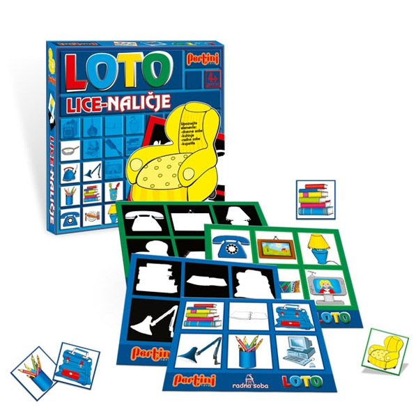 Loto Lice i naličje Pertini P-0210C 4056 - ODDO igračke