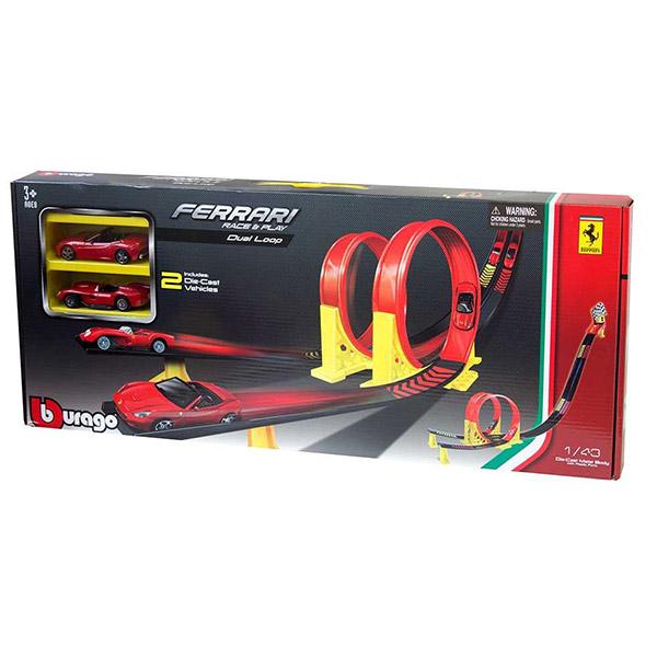 Burago Ferrari 1:43 Dual Loop Playset BU31216                                  - ODDO igračke