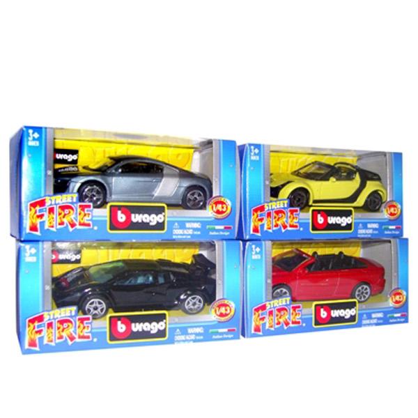 Burago Street Fire Crveni Displej BU30010R - ODDO igračke
