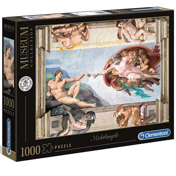 Clementoni Puzzla The Creation of Man, Michelangelo 1000 pcs 39496 - ODDO igračke