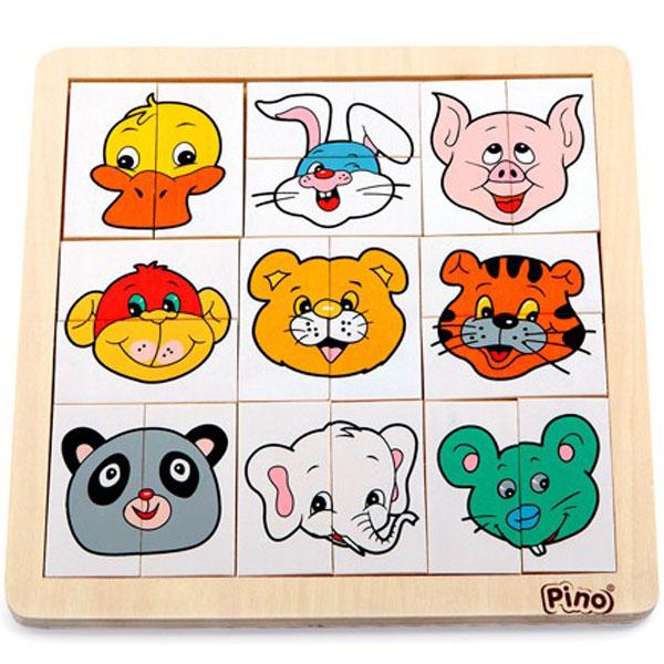 Pino slagalica sa motivima grimasa životinja 4490-2 - ODDO igračke