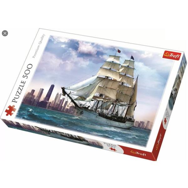 Trefl Puzzla Sailing Against Chicago 500 pcs 37120 - ODDO igračke