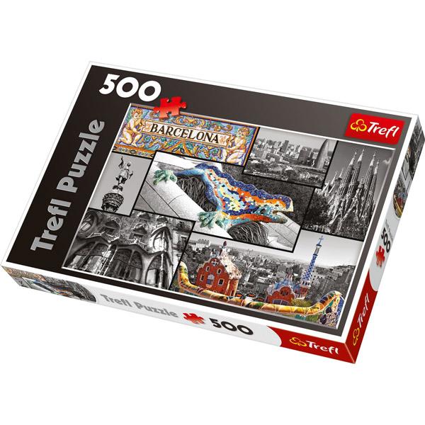 Trefl Puzzla Barcelona - Collage 500 pcs 37169 - ODDO igračke
