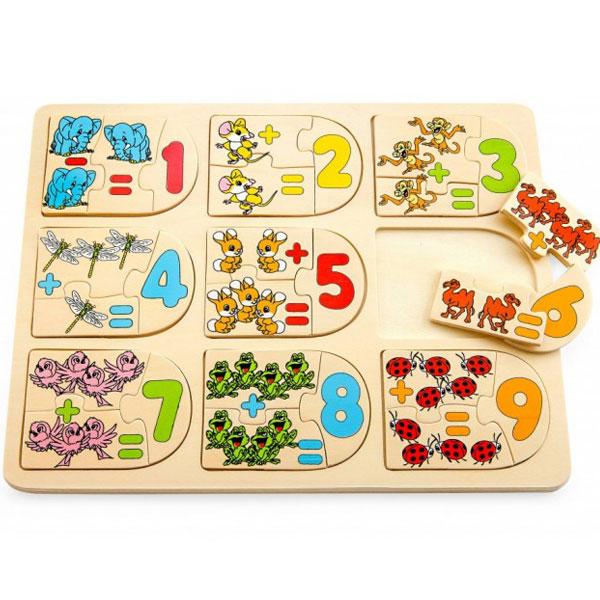 Drvena slagalica Matematika 4678 - ODDO igračke