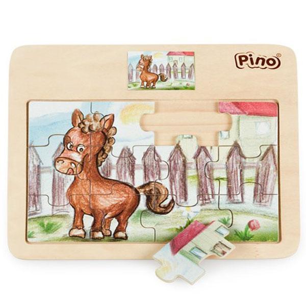 Drvena Puzzla Konjić 4102C - ODDO igračke