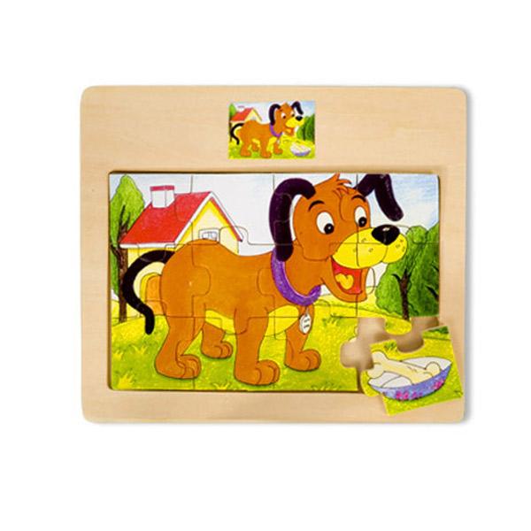 Drvena Puzzla Kuca 12 elemenata 4102-2 - ODDO igračke