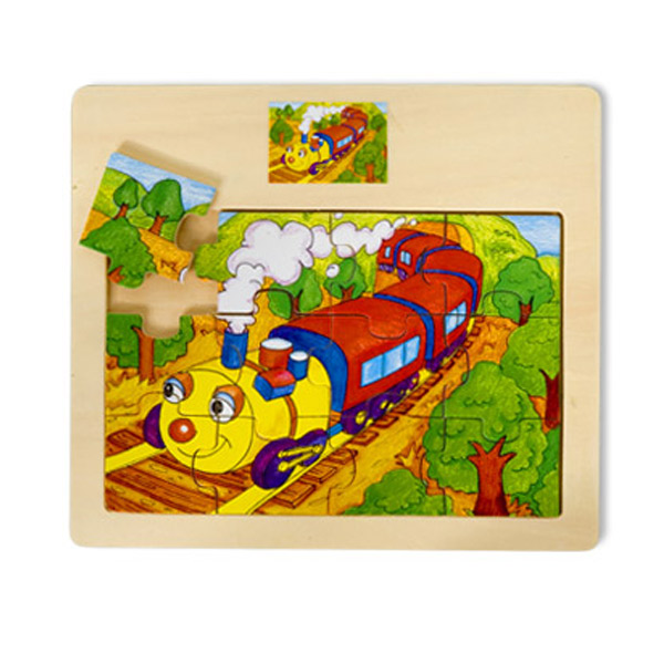Drvena puzzla Vozić 12 elemenata 4102-3 - ODDO igračke