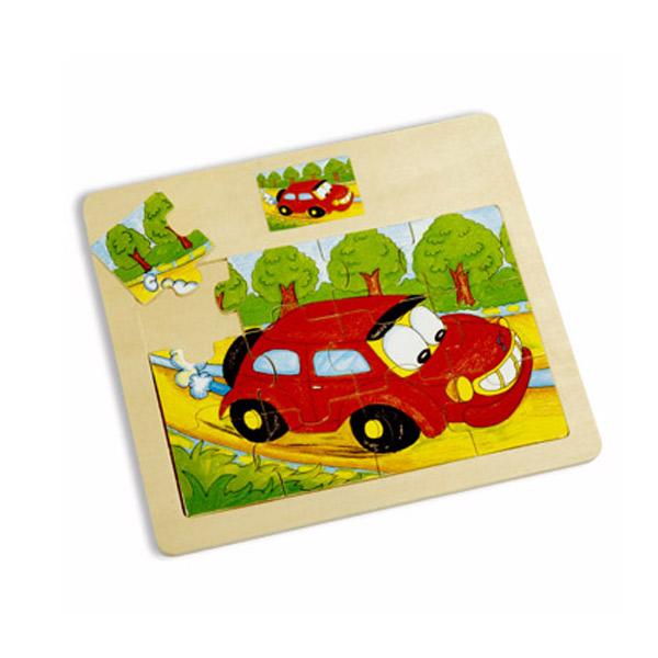 Drvena slagalica auto 12 elemenata 4102-4 - ODDO igračke