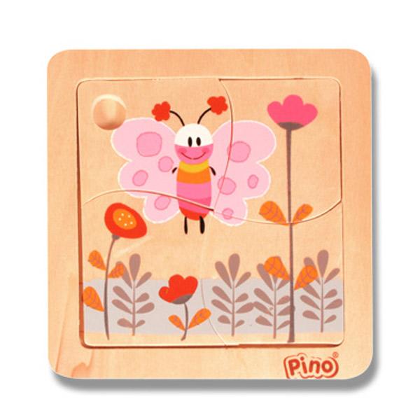 PINO Mini puzzle 4 elementa- Leptir 4733-1 - ODDO igračke