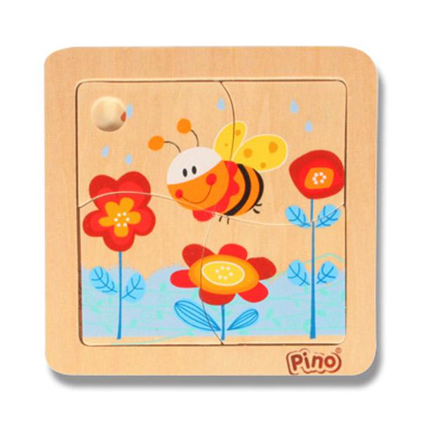 PINO Mini puzzle 4 elementa- PČELICA 4733-3 - ODDO igračke