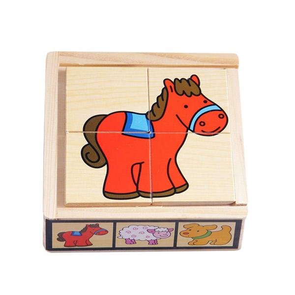 PINO Slagalica 6x4 elementa- Domaće Životinje 6861-2 - ODDO igračke