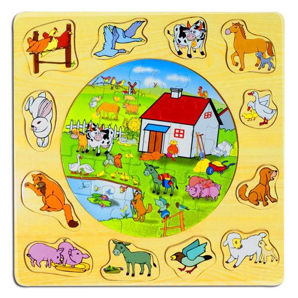 Drvena Slagalica 2 u 1 Farma 4050-1 - ODDO igračke