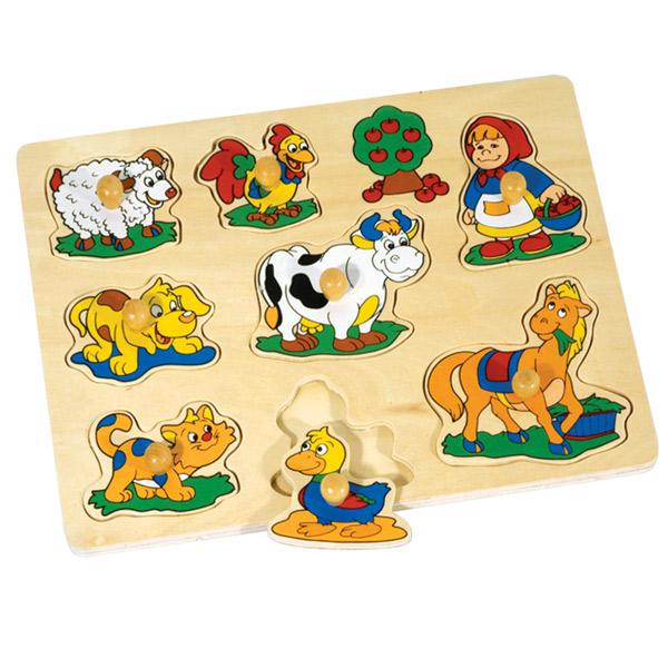 Drvena Slagalica oblici Farma 4312T1 - ODDO igračke