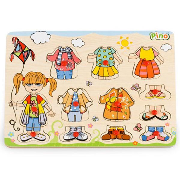 Drvena Slagalica Obuci Devojčicu 4479A5 - ODDO igračke