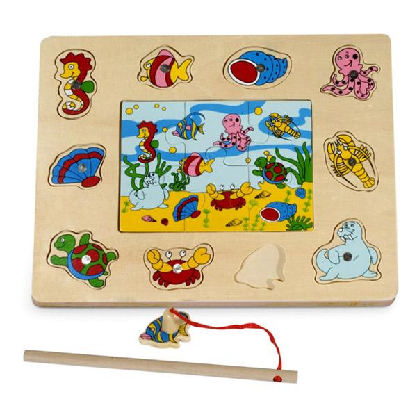 Drvena slagalica sa magnetima Pecaljka 4673C1 - ODDO igračke