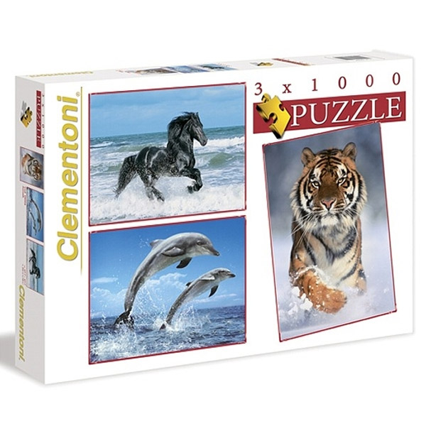 Slagalice 3x1000pcs animals 08004 - ODDO igračke
