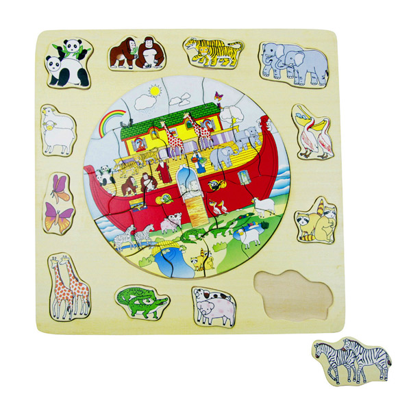 Slagalica 2 u 1 (puzzle i oblici) Nojeva Barka 4050-2  - ODDO igračke