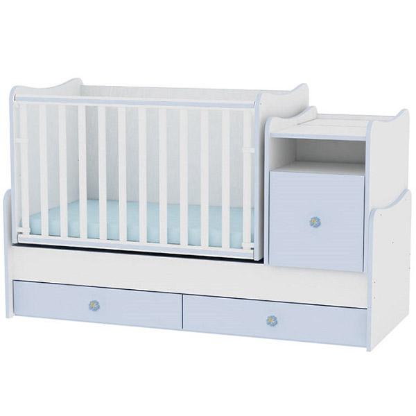 Drveni Krevetac Trend Plus - White-Blue 10150400022 - ODDO igračke
